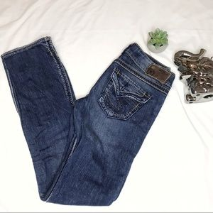 Silver Jeans with Button Back Pockets | Mckenzie